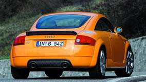 Back Pose of 2002 Audi TT 3.2 Quattro In Orange